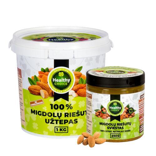 Healthy Choice migdolų riešutų užtepas 1000g