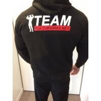 Team Kulturizmas.net džemperis su kapišonu juodas