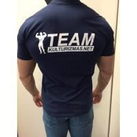 Team Kulturizmas.net marškinėliai mėlyni (hard work)