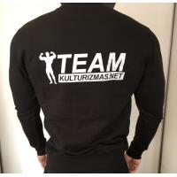 Team Kulturizmas.net džemperis juodas su juodu be kapišono