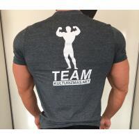 Team Kulturizmas.net marškinėliai pilki ON