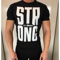 Team Kulturizmas.net marškinėliai STRONG juodi