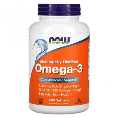 NOW Supplements Omega-3 žuvų taukai