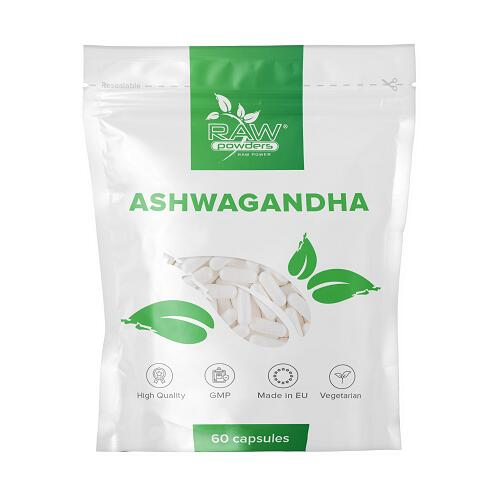 Raw Powders Ashwagandha (migdomoji vitanija) 60 kaps.