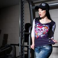 """Yep Sport Style Moteriški laisvalaikio marškinėliai """"Love skull"""""""