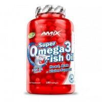 Amix Super Omega 3 Fish Oil (žuvų taukai) 180 kaps.