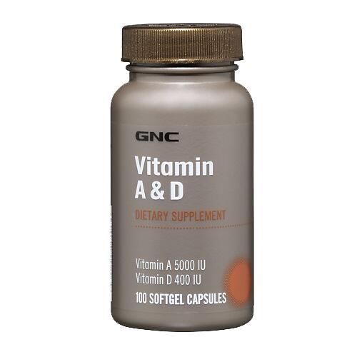 GNC Vitamin A & D 100 kaps.