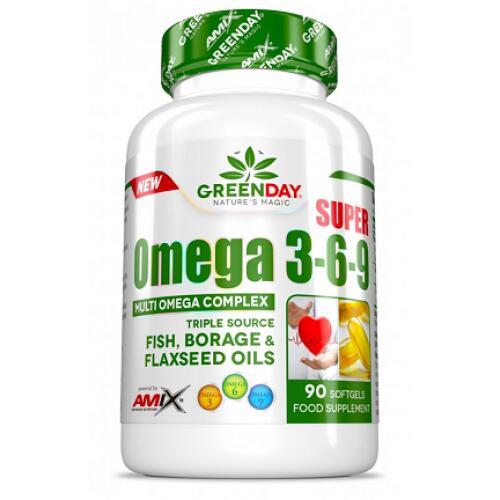 Amix GREENDAY® Super Omega 3-6-9 90 kaps.