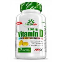 Amix GREENDAY® Vitaminas D3 2500IU 90 kaps.