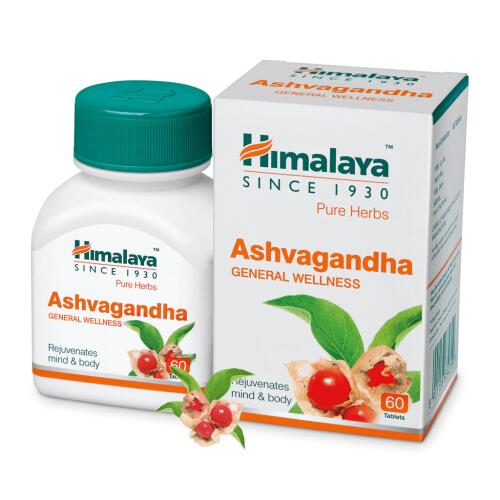 Himalaya Ashvagandha (migdomoji vitanija) 60 kaps.