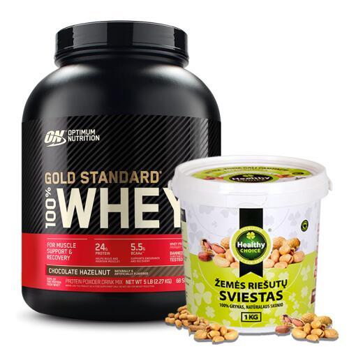 100% Whey Gold Standard 2250 g ir vertinga dovana !!!