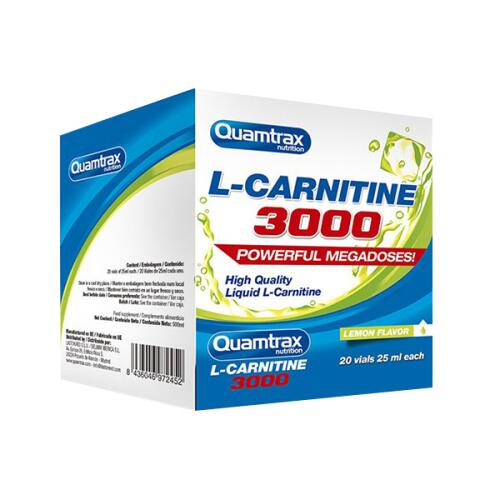 Quamtrax L-Carnitine 3000 25 ml 20 amp. (dėžutė)