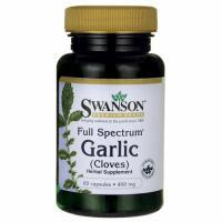 Swanson Garlic (česnakas miltelių formoje) 400mg 60 kaps.