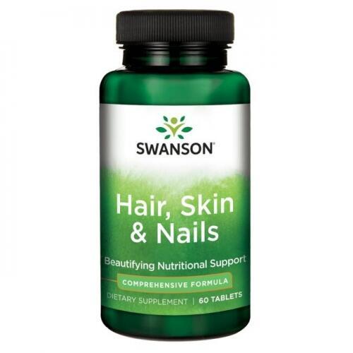 Swanson Hair, Skin & Nails (plaukams, odai ir nagams) 60 tabl.