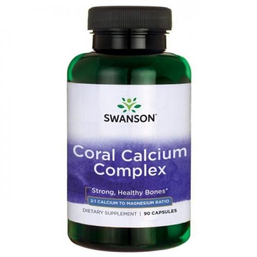 Swanson Coral Calcium Complex (koralinis kalcis) 90 kaps.