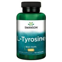 Swanson L-Tyrosine (L-tirozinas) 500 mg 100 kaps.