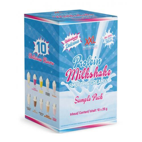 XXL Nutrition Protein Milkshake mėginiukų komplektas 10x25g