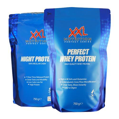 XXL Perfect Whey, Night Protein (išrūgos+kazeinas) ir dovana!