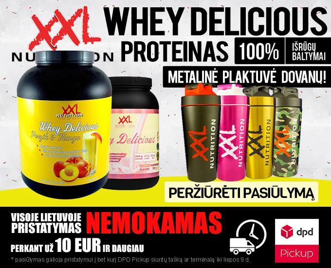 XXL Nutrition Whey Delicious ir metalinė plaktuvė dovanų!